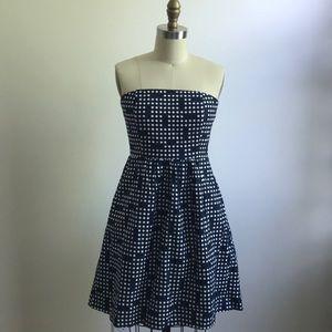 Gap Linen Strapless Dress With Pockets